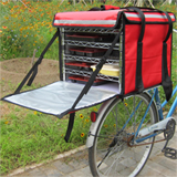"PK-82C:5 Layers/Trays Food Delivery Box for Bike, Keep Hot,Side Loading,Zipper Closure, 18"" L x 18"" W x 16"" H"