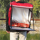 "PK-53A:Fast Food/ Chinese Food Delivery Bag for Backpack,Side Loading,Zipper Closure, 16"" L x 9"" W x 18"" H"