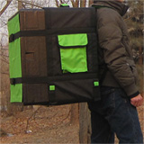 PK-78D:Insulated Pizza Delivery Box with Backpack, Big Food Take Out Bag, Large Capacity Pizza Bag