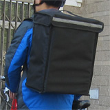 "PK-34V: Small Food Delivery Backpack, Food Delivery Equipment, Top Loading, Velcro Closure, 13"" L x 9"" W x 18"" H"