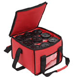 Drink Carrier and Food Delivery Bag with 3 Cup Holder Bags Holds up to 9 Coffee Cups, Tote Bags