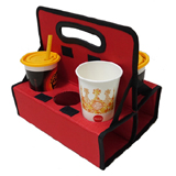 PK-6CUP: Cup Holder for Takeaways, Fit 6 Cups of Beverage, Use in Delivery Backpacks, Drinks Carrier