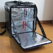 PK-76B: Big Pizza Delivery Bag, Catering Carrier, Rider backpack, 2-Way Zipper Closure